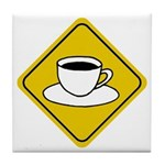 Coffee Crossing Sign Tile Coaster