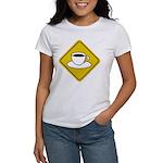 Coffee Crossing Sign Women's T-Shirt