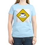 Coffee Crossing Sign Women's Pink T-Shirt