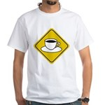 Coffee Crossing Sign White T-Shirt