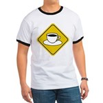 Coffee Crossing Sign Ringer T