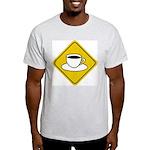 Coffee Crossing Sign Ash Grey T-Shirt