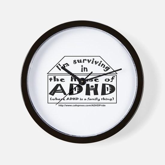 House of ADHD wall clock