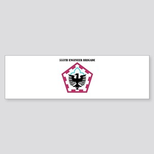 SSI - 555th Engineer Brigade with Text Sticker (Bu