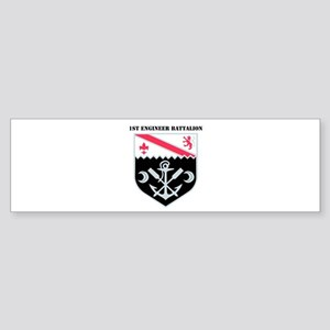 DUI - 1st Engineer Bn with Text Sticker (Bumper)