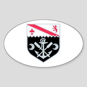 DUI - 1st Engineer Bn Sticker (Oval)
