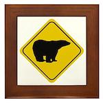 Polar Bear Crossing Framed Tile