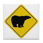 Polar Bear Crossing Tile Coaster