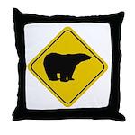 Polar Bear Crossing Throw Pillow