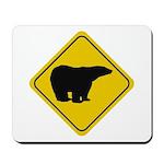Polar Bear Crossing Mousepad