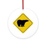 Polar Bear Crossing Ornament (Round)