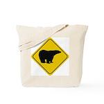 Polar Bear Crossing Tote Bag