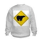 Polar Bear Crossing Kids Sweatshirt
