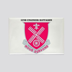DUI - 52nd Engineer Bn with Text Rectangle Magnet
