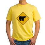 Polar Bear Crossing Yellow T-Shirt