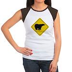 Polar Bear Crossing Women's Cap Sleeve T-Shirt