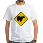 Polar Bear Crossing White T-Shirt