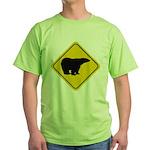 Polar Bear Crossing Green T-Shirt