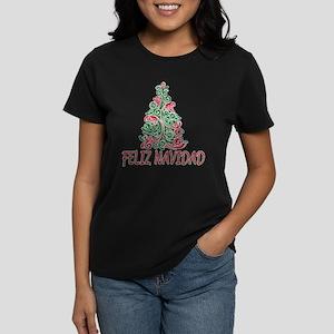 Feliz Navidad Women's Dark T-Shirt