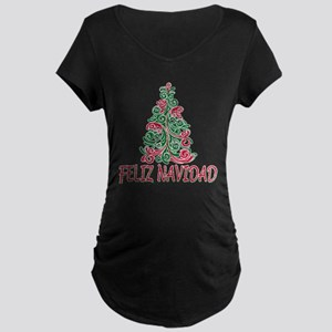 Feliz Navidad Maternity Dark T-Shirt