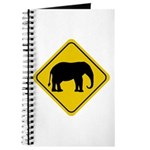 Elephant Crossing Sign Journal