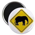 Elephant Crossing Sign Magnet