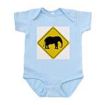 Elephant Crossing Sign Infant Creeper