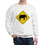 Elephant Crossing Sign Sweatshirt