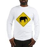Elephant Crossing Sign Long Sleeve T-Shirt