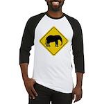 Elephant Crossing Sign Baseball Jersey