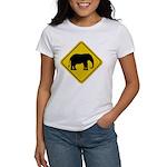 Elephant Crossing Sign Women's T-Shirt