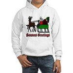 Christmas Santa Sleigh Hooded Sweatshirt