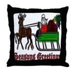 Christmas Santa Sleigh Throw Pillow