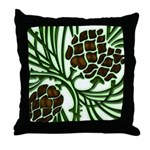 Christmas Pine Cones Throw Pillow