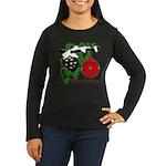 Christmas Red Ball Women's Long Sleeve Dark T-Shir