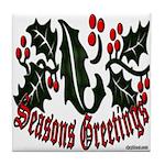 Christmas Holly Tile Coaster
