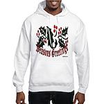 Christmas Holly Hooded Sweatshirt