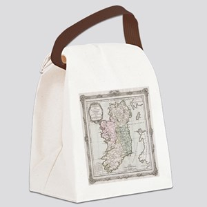 Vintage Map of Ireland (1766) Canvas Lunch Bag