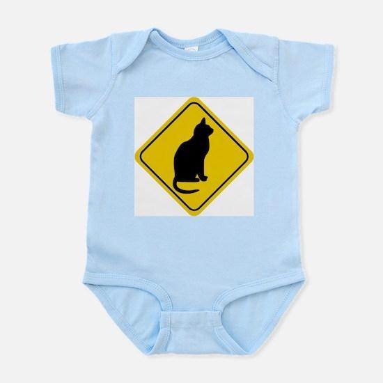 Cat Crossing Sign Infant Creeper
