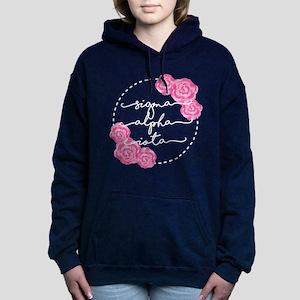 sigma alpha iota floral Women's Hooded Sweatshirt