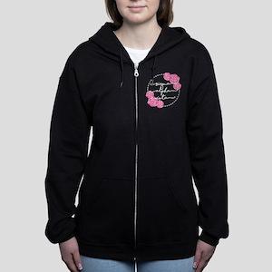sigma alpha iota floral Women's Zip Hoodie