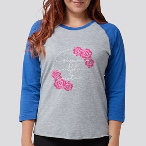 sigma alpha iota floral Womens Baseball T-Shirt