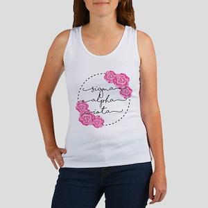 sigma alpha iota floral Women's Tank Top