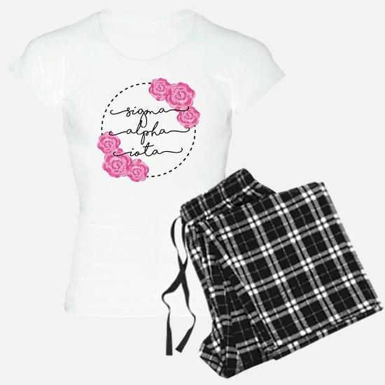 sigma alpha iota floral Pajamas