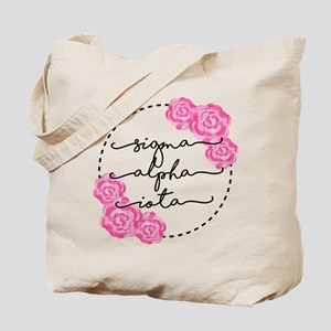 sigma alpha iota floral Tote Bag