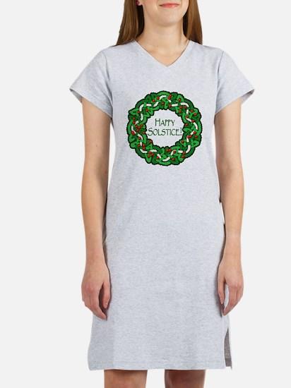 Celtic Solstice Wreath Women's Nightshirt