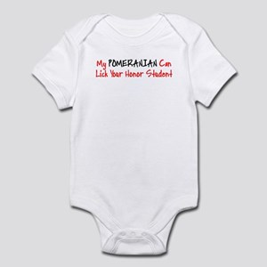 Pomeranian HONOR STUDENT Infant Bodysuit