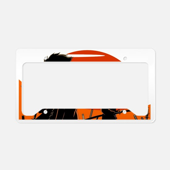 Cute Samurai License Plate Holder