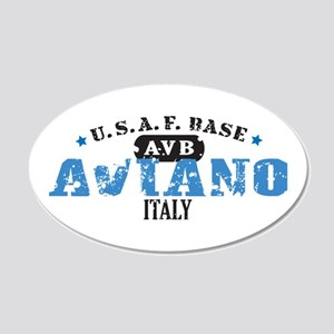 Aviano Air Force Base 22x14 Oval Wall Peel