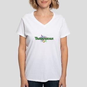 Vagetarian Women's V-Neck T-Shirt
